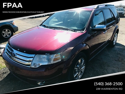 2008 Ford Taurus X Limited for sale at FPAA in Fredericksburg VA