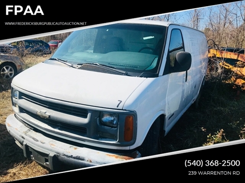 1997 Chevrolet Chevy Van for sale at FPAA in Fredericksburg VA