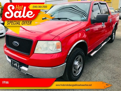 2004 Ford F-150 XLT for sale at FPAA in Fredericksburg VA