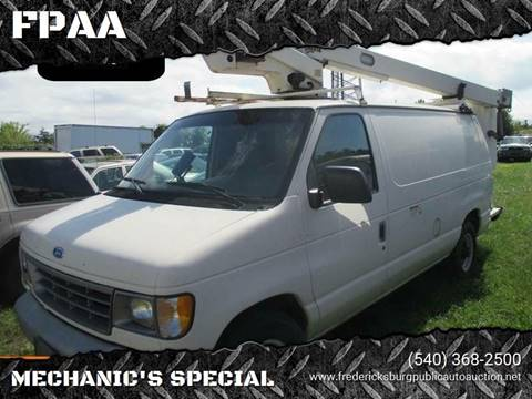 1994 Ford E-350 for sale at FPAA in Fredericksburg VA