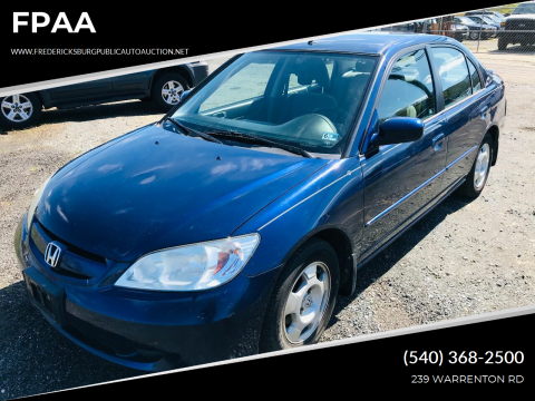 2005 Honda Civic Hybrid for sale at FPAA in Fredericksburg VA