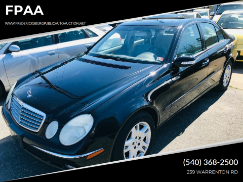 2004 Mercedes-Benz E-Class E 320 for sale at FPAA in Fredericksburg VA