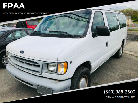 1999 Ford E-150 for sale at FPAA in Fredericksburg VA