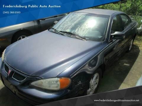 2000 Pontiac Grand Am for sale at FPAA in Fredericksburg VA
