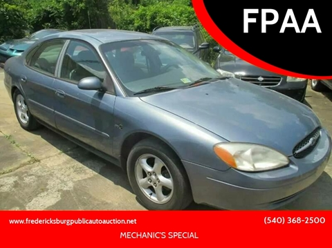 2000 Ford Taurus for sale at FPAA in Fredericksburg VA