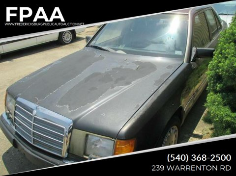 1990 Mercedes-Benz 300-Class for sale at FPAA in Fredericksburg VA