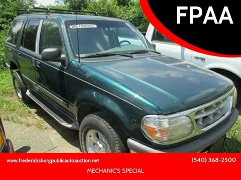 1997 Ford Explorer for sale at FPAA in Fredericksburg VA