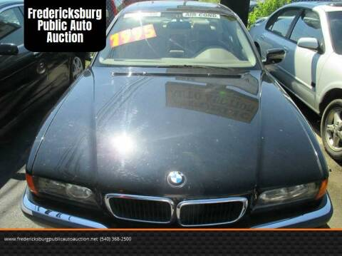 1998 BMW 7 Series 740iL for sale at FPAA in Fredericksburg VA
