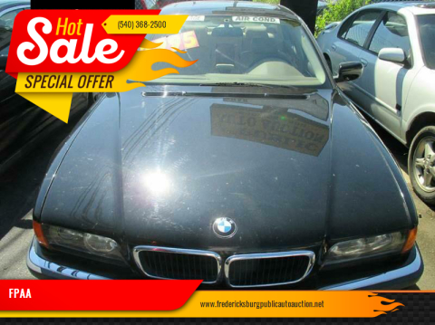 1998 BMW 7 Series for sale at FPAA in Fredericksburg VA