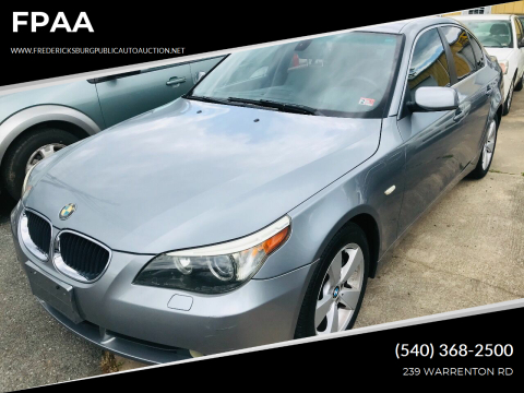 2006 BMW 5 Series for sale at FPAA in Fredericksburg VA