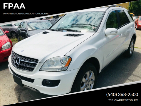 2007 Mercedes-Benz M-Class for sale at FPAA in Fredericksburg VA