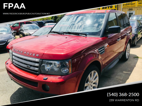 2006 Land Rover Range Rover Sport for sale at FPAA in Fredericksburg VA