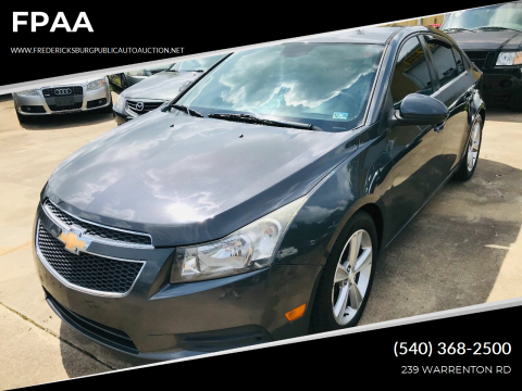 2013 Chevrolet Cruze for sale at FPAA in Fredericksburg VA