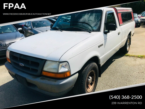 1999 Ford Ranger for sale at FPAA in Fredericksburg VA