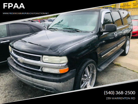 2001 Chevrolet Suburban for sale at FPAA in Fredericksburg VA