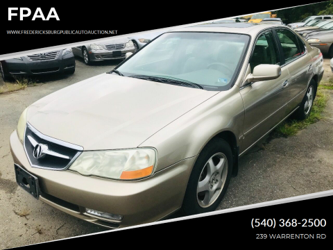 2003 Acura TL for sale at FPAA in Fredericksburg VA