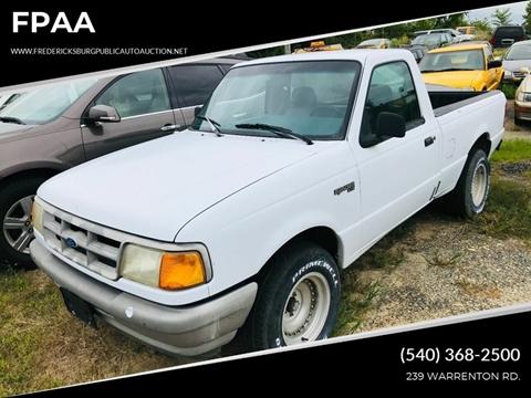 1994 Ford Ranger for sale at FPAA in Fredericksburg VA
