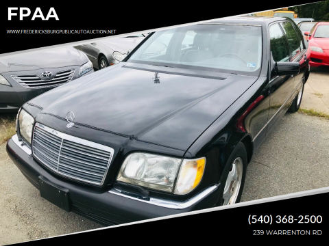 1999 Mercedes-Benz S-Class for sale at FPAA in Fredericksburg VA