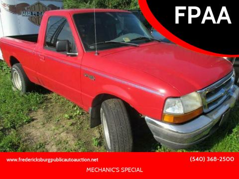 1998 Ford Ranger for sale at FPAA in Fredericksburg VA