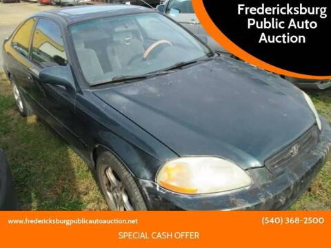 1998 Honda Civic for sale at FPAA in Fredericksburg VA