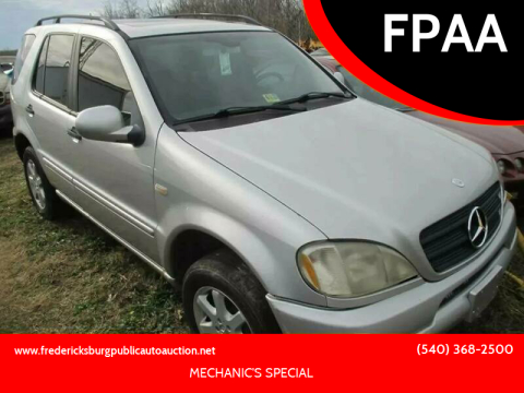 2000 Mercedes-Benz M-Class for sale at FPAA in Fredericksburg VA