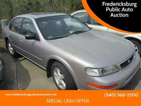 1996 Nissan Maxima for sale at FPAA in Fredericksburg VA