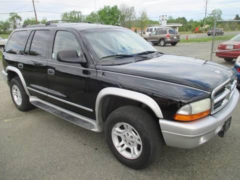 2003 Dodge Durango for sale at FPAA in Fredericksburg VA