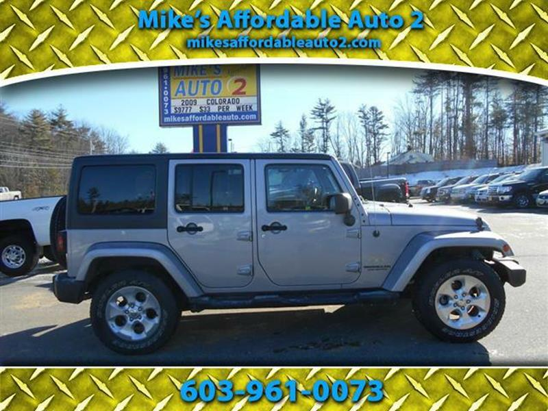 2015 Jeep Wrangler Unlimited 4x4 Sahara 4dr Suv In Chichester Nh