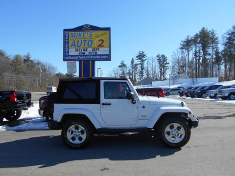 2014 Jeep Wrangler for sale in Chichester, NH