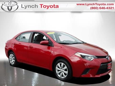 2015 Toyota Corolla for sale in Manchester CT