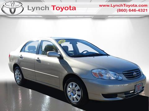 2004 Toyota Corolla for sale in Manchester CT