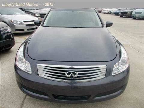 Used 2009 infiniti g37 for sale in north carolina for Liberty used motors clayton clayton nc
