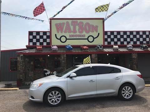 2010 Buick LaCrosse for sale at Watson Motors in Poteau OK