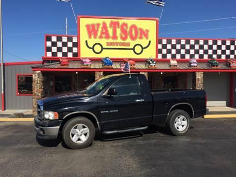 2003 Dodge Ram Pickup 1500 for sale at Watson Motors in Poteau OK