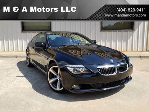 2009 BMW 6 Series for sale at M & A Motors LLC in Marietta GA