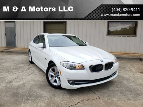 2011 BMW 5 Series for sale at M & A Motors LLC in Marietta GA