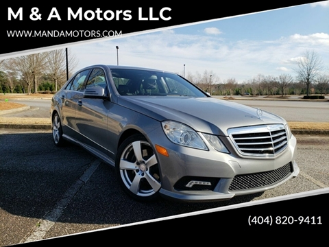 2011 Mercedes-Benz E-Class for sale at M & A Motors LLC in Marietta GA