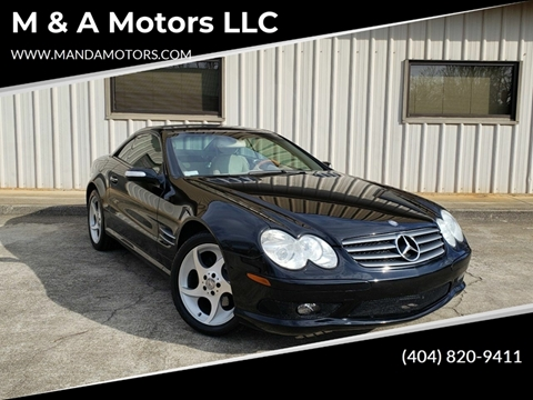 2004 Mercedes-Benz SL-Class for sale at M & A Motors LLC in Marietta GA