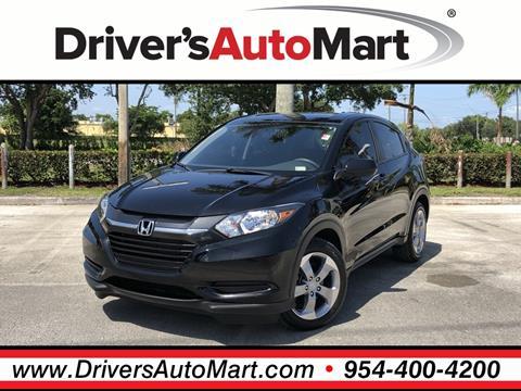 2017 Honda HR-V for sale in Davie, FL