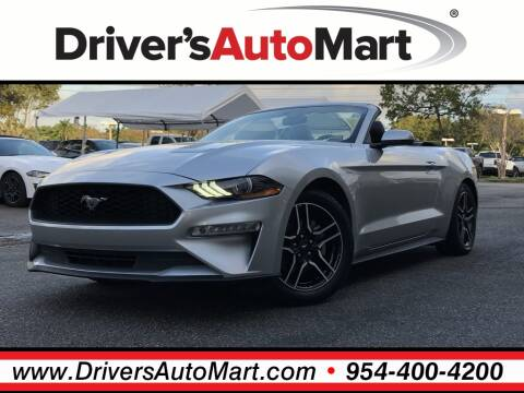 2018 Ford Mustang EcoBoost Premium for sale at Driver's Auto Mart in Davie FL