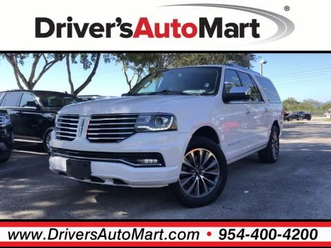 2015 Lincoln Navigator L for sale at Driver's Auto Mart in Davie FL