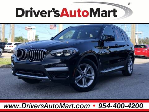 2019 BMW X3 sDrive30i for sale at Driver's Auto Mart in Davie FL