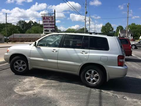 2005 Toyota Highlander for sale at Mac's Auto Sales in Camden SC