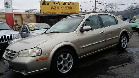 2000 Nissan Maxima for sale at WEST END AUTO INC in Chicago IL