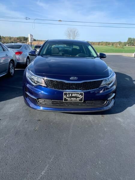 2017 Kia Optima for sale at RHK Motors LLC in West Union OH