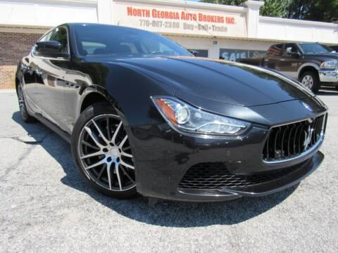 2014 Maserati Ghibli for sale at North Georgia Auto Brokers in Snellville GA