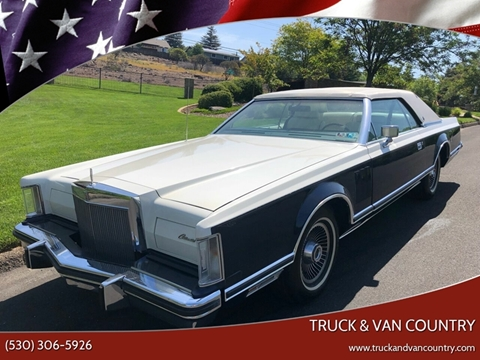 1979 Lincoln Mark V for sale at Truck & Van Country in Shingle Springs CA
