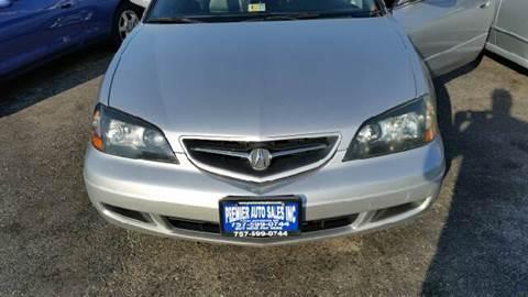 2003 Acura CL for sale at Premier Auto Sales Inc. in Newport News VA