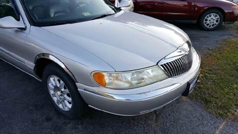 2002 Lincoln Continental for sale at Premier Auto Sales Inc. in Newport News VA