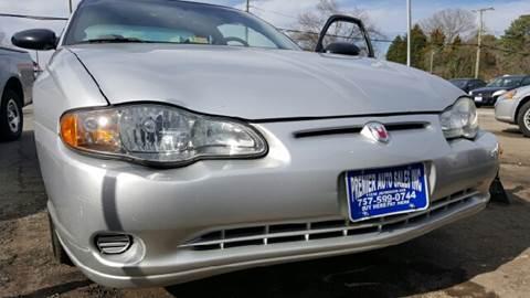 2003 Chevrolet Monte Carlo for sale at Premier Auto Sales Inc. in Newport News VA